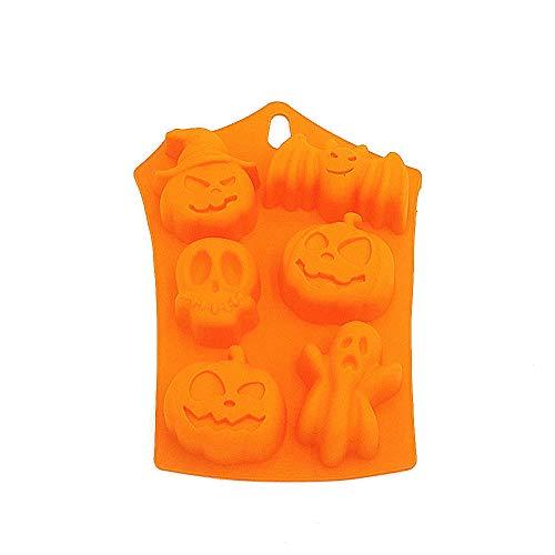 Halloween Night Kürbis Hexe Hat Ghost Fledermäuse Totenkopf Silikon Form Fondant DIY Kuchen dekorieren Form, Gelee, Schokolade, Süßigkeiten, Pudding, Polymer Clay ()