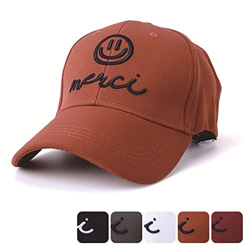 Preisvergleich Produktbild Mzdpp Niedlicher Smiley Baseball-Mütze Gestickter Ausdruck Im Freien Männer Und Frauen Sonnenblende