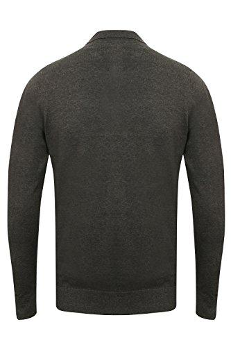 Kensington Eastside Herren Jumper Pullover, Einfarbig grau grau Small Anthrazit