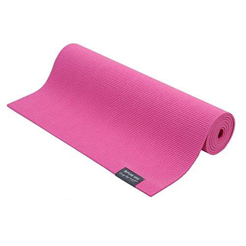 PURE RISE Yoga mat 183 cm x 61 cm x 6 mm, Yogamatten Fittness, Yoga, Hot Yoga (Pink) Hot Pink Matte