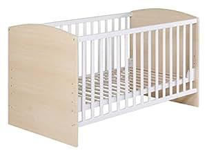 roba kombi kinderbett 70x140 cm babybett 3 fach h henverstellbar baby kinderbett umbaubar. Black Bedroom Furniture Sets. Home Design Ideas