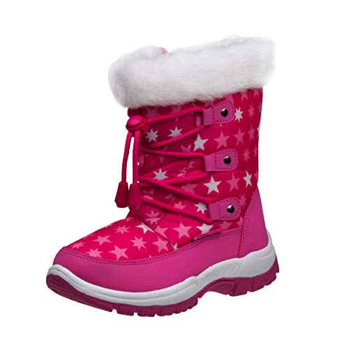 Rugged Bear Girls Fur Top Quilted Water Resistant Snow Boot (Toddler/Little Kid/Big Kid)