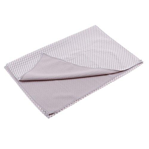 Homyl Bambus-Karbonfaser Handtuch - schnelltrocknend und ultra saugfähig - geeignet als Sporthandtuch, Reisehandtuch, Badetuch, Strandhandtuch, Sauna Handtuch (90 x 30cm) - Grau -