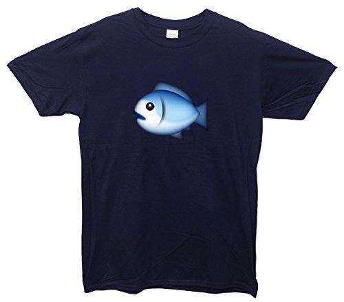 Fish Emoji T-Shirt Navy