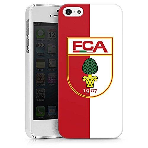 Apple iPhone X Silikon Hülle Case Schutzhülle FC Augsburg Fanartikel Bundesliga Hard Case weiß