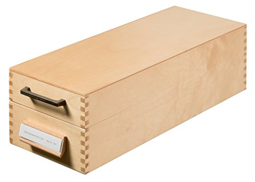 HAN Karteikasten 1007,  DIN A7 quer aus Holz / Hochwertige Lernkarteibox aus edlem & robustem Naturholz für 1.500 DIN A7 Karteikarten / Ideal zum Vokabeln lernen & als Lehrmaterial