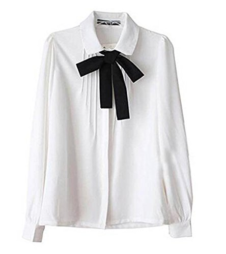 lady-bowknot-baby-collar-long-sleeve-ol-chiffon-button-shirt-white