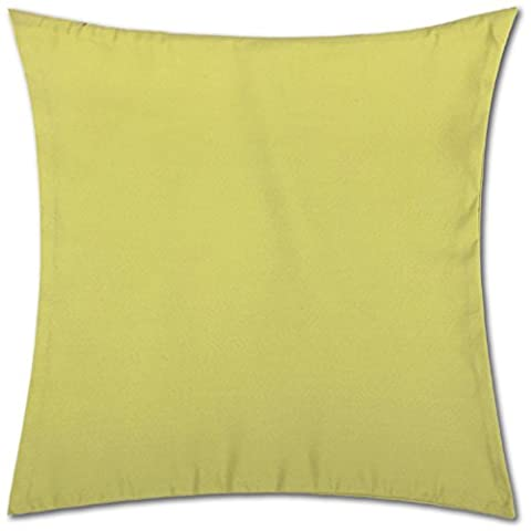 Kissenhülle ( 100 Größen und Farben ) mit und ohne Füllkissen, Serie: Ellen, Kissenbezug Dekokissen, Auswahl: 50x50cm ohne Füllung grün - apfelgrün