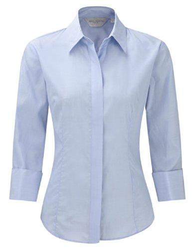 Z953F business-chemisier pour femme à manches 3/4 en tencel ® Bleu - Bright Sky
