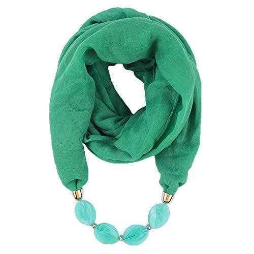 Auied Schal Baumwolle Leinen Halskette Anhänger Schal Ethnisch Stil Weich Halskette Schal -