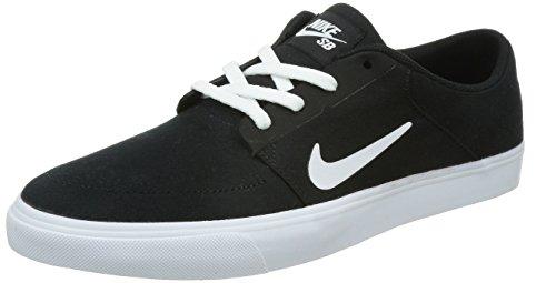 Scarpa da skate uomo Nike Portmore Cnvs nero / bianco Nike Uomo 8 anni