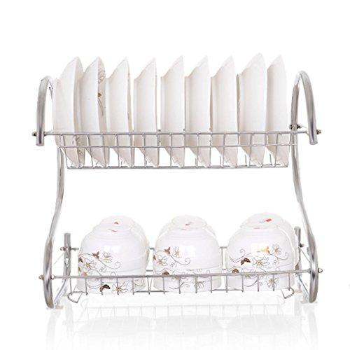 Porte-vaisselle Ensemble de vasque Étagère de vidange Étagère de cuisine En acier inoxydable Mettez des matériaux à double couche Incorporated 45 * 24 * 38CM (Couleur : A, taille : 45*24*38CM)