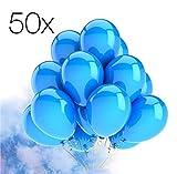 TK Gruppe Timo Klingler 50x blau Luftballons Ballons Luftballon für Luft und Helium blau für Dekoration Deko an Hochzeit, Geburtstag, Party, Partydekoration Hochzeitsdeko, Mädchen UVM.