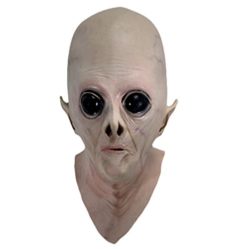 Böse Zombie Kostüme Kinder (Halloween Alien Maske Halloween Costume Party Latex Mask Halloween Böse Horror Kopfbedeckung Alien für Kinder und)