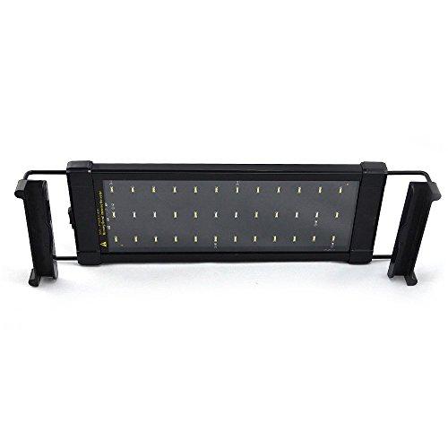 LemonBest® 28cm 6W Aquarium LED Beleuchtung Leuchte Lampe Blau 2 Modus Haustierbedarf 30 White + 6 Blue EU Plug