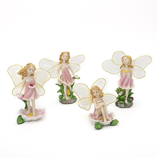 secretrain-resin-garden-ornament-home-outdoor-decor-flower-fairies-set-of-4
