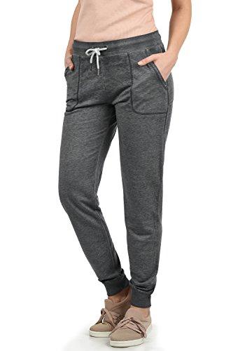 DESIRES Betty Damen Sweathose Sweatpants Relaxhose Mit Melierung Regular Fit, Größe:L, Farbe:Dark Grey M. (8288)