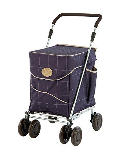 Sholley © Original Deluxe \'Mulberry\' Faltbare Einkaufstrolley, Einkaufswagen mit Rädern, Einkaufsroller klappbar. Handwagen, Einkaufstache aüf Rädern, 4 Räder, 6 Räder (Regular)