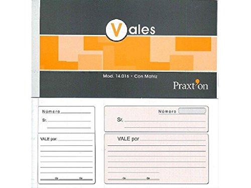 TALONARIO PRAXTON 1/3 Fº VALE POR 14016 C/10