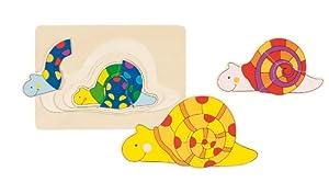 Goki maderaPuzzles de maderaGOKICaracol, Puzzle, Multicolor (1)