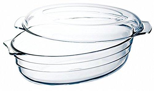 THOMAS Glas Auflaufform oval mit Deckel 3,0 L