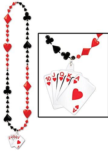 Casino Party Spielkarte Perlen Halskette