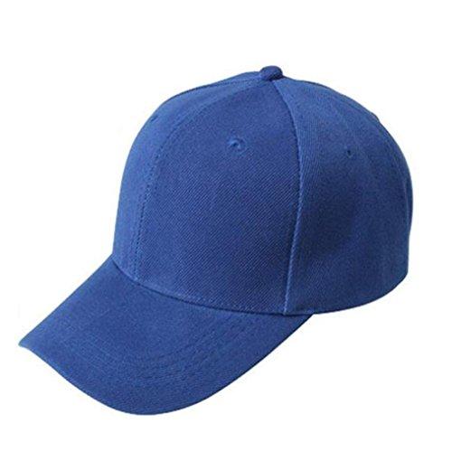 Btruely Baseball Cap Unisex Snapback Kappe Einstellbar Basecap Sommer Kappe Hip Hop Cap Sommer Sonnenhut Sport Mütze Eben Kappe (Blau) (Kappe Gestickte Justierbare)