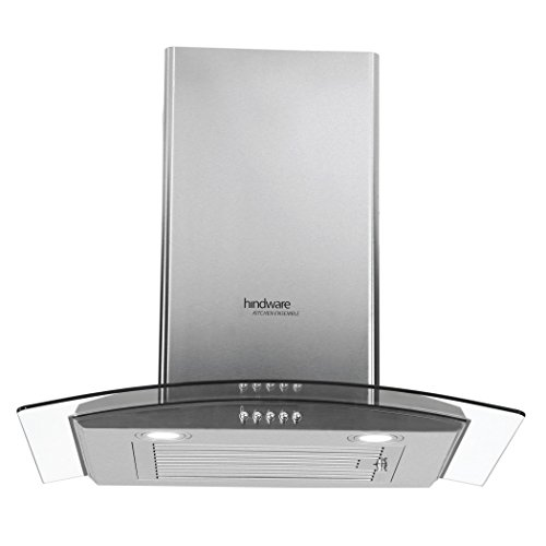 Hindware 60cm 1100 m3/hr Chimney (Sabina SS 60, 1 Baffle Filter, Steel/Grey)