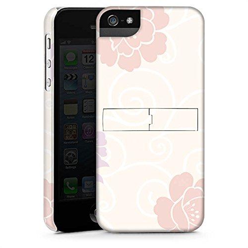 Apple iPhone X Silikon Hülle Case Schutzhülle Flower Blumen Muster Premium Case StandUp