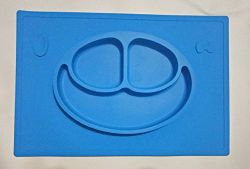 Blue-One-piece-silicone-placemat-plate-Children-Silicon-Plate-Mat-ezpz-India-Mat