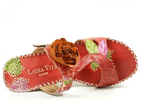 Laura Vita CX077-1 Valter Mules mode femme Rouge