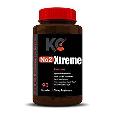 NO2 XTREME | Hardcore Nitric Oxide Booster | NITRIC OXIDE PUMP MAXIMIZER | Nitric Oxide Formulation | Builds Muscle Fast, Boost Performance, Build Strength & Boost Energy, Increase Workout Endurance and Recovery Rate 120 Capsules - 30 Day Supply by Knox C