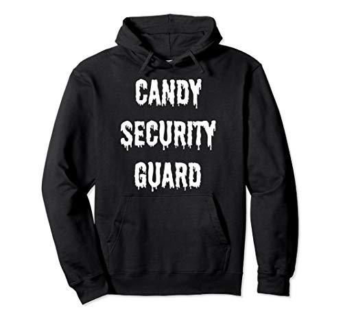 Lustige Halloween-Kostüme für Eltern, Candy Security Guard Pullover - Lustige Security Guard Kostüm