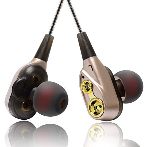 BedolioHandy-Headset Quad-Core-Double-Moving-Coil-Wire-Control-Ohrstöpsel In-Ear-Bass-Kabel mit Weizen-Kopfhörern, c - Control Coil