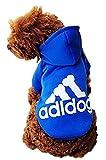 Ducomi Adidog - Felpa Cane con Cappuccio in Morbido Cotone - Taglie Disponibili dalla XS alla 8XL e Ampia Scelta di Colori - Spedizione dall'Italia (XS, Blue)