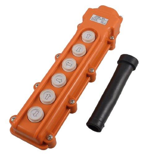 Aexit Hebemaschine Kran Druckknopf Schalter Oben Unten 6 Wege AC 250V 5A 500V 2A de (Ost-west-unten)
