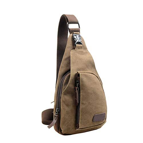 SoonerQuicker Herren Tasche Brusttasche Sport Canvas Unbalance Rucksack Crossbody Umhängetasche Ches schwarz (b) Pink Camouflage Messenger Bag