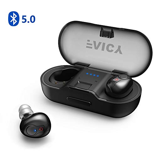 Faicy Kabellose Bluetooth Kopfhörer in Ear Drahtlose Ohrhörer True Wireless 5.0 Headset HD- Stereo-Minikopfhörer IPX5 Wasserdicht Sport Headset mit integriertem Mikrofon -