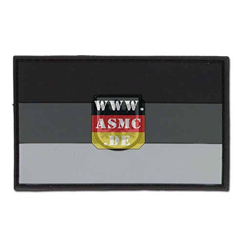 Preisvergleich Produktbild 3D-Patch Deutschland mit Wappen subbed grau
