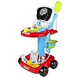 Fajiabao Arztwagen Kinder Spielzeug Doktor Trolley Arztkoffer Arzt Accessoires 24 Teils Rollenspiel Spiele für Kinder Doktorkoffer Pädagogisches Spielzeug für Kinder ab 3 4 5 6 Jahren