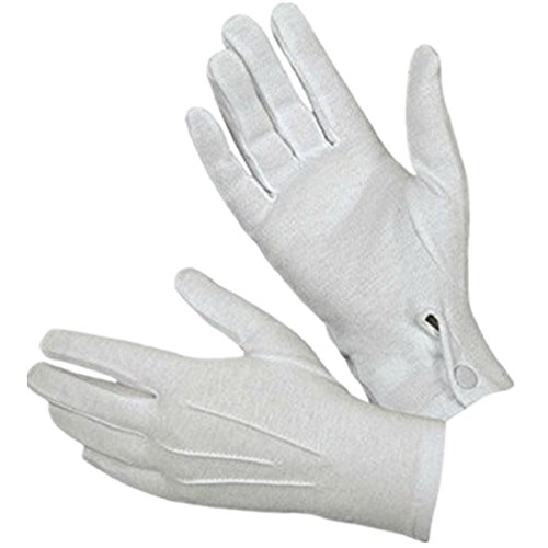 Zarupeng 1Pair weiße formale Handschuhe Smoking Honor Guard Männer (Guard Kostüme Herren)