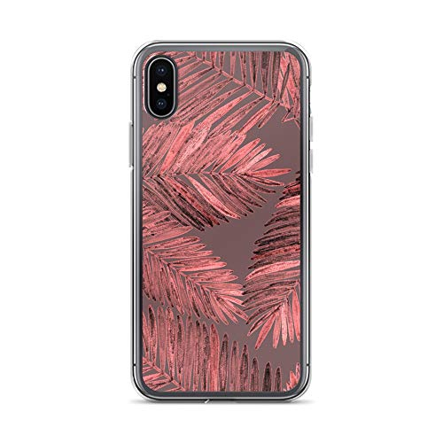 blitzversand Handyhülle Tropical Palme kompatibel für iPhone 5 C Blätter Kaktus Lila Pink Schutz Hülle Case Bumper transparent M9