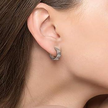 Sterling Silber Creolen für Frauen minimalistische Ohrringe ungewöhnliche Ohrringe Hoop Huggie Creolen hypoallergen…