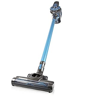 Pifco P28040 Lightweight 3-in-1 Lithium Powered Rechargeable Cordless Pole Vacuum Cleaner with Powered Turbo Brush Head and Pet Brush, 22 V, Grey and Blue Finish