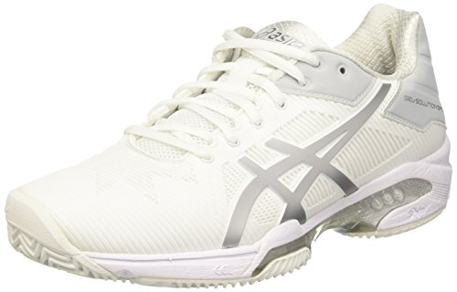 Asics Gel-Solution Speed 3 Clay, Scarpe da Ginnastica Donna, Bianco (White/Silver), 39 EU