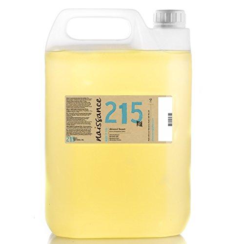 Naissance Huile d'Amande Douce (n° 215) - 5 litres - 100% naturelle, végan, sans OGM - parfaite pour les massages, le soin des cheveux et de la peau
