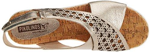 Pikolinos Mykonos W1g, Sandales Femme Argent (Stone)