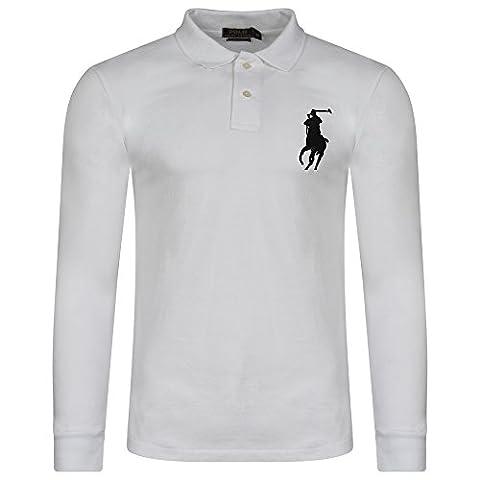 Ralph Lauren .. - Polo - Uni - Col Chemise Classique - Homme - blanc - L