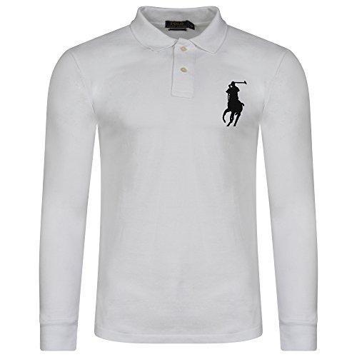 Ralph Lauren Herren Poloshirt, Einfarbig Gr. M, weiß