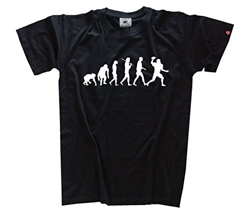 Shirtzshop Evolution American Football Kids Shirt Kinder-Shirt Schwarz 164